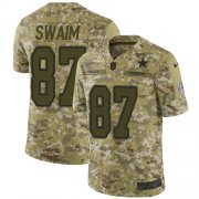 Wholesale Cheap Nike Cowboys #87 Geoff Swaim Camo Men's Stitched NFL Limited 2018 Salute To Service Jersey