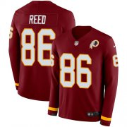 Wholesale Cheap Nike Redskins #86 Jordan Reed Burgundy Red Team Color Men's Stitched NFL Limited Therma Long Sleeve Jersey