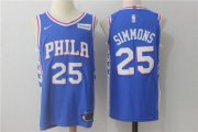 Wholesale Cheap Men's Philadelphia 76ers #25 Ben Simmons New Royal Blue 2017-2018 Nike Swingman Stitched NBA Jersey