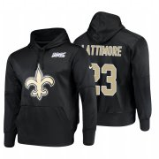 Wholesale Cheap New Orleans Saints #23 Marshon Lattimore Nike NFL 100 Primary Logo Circuit Name & Number Pullover Hoodie Black