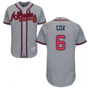 Wholesale Cheap Braves #6 Bobby Cox Grey Flexbase Authentic Collection Stitched MLB Jersey