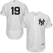 Wholesale Cheap Yankees #19 Masahiro Tanaka White Strip Flexbase Authentic Collection Stitched MLB Jersey