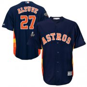Wholesale Cheap Astros #27 Jose Altuve Navy Blue New Cool Base 2019 World Series Bound Stitched MLB Jersey