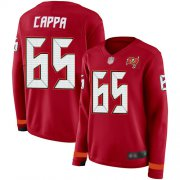 Wholesale Cheap Nike Buccaneers #65 Alex Cappa Red Team Color Women's Stitched NFL Limited Therma Long Sleeve Jersey