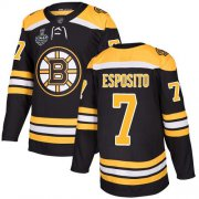 Wholesale Cheap Adidas Bruins #7 Phil Esposito Black Home Authentic Stanley Cup Final Bound Stitched NHL Jersey