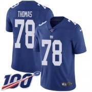 Wholesale Cheap Nike Giants #78 Andrew Thomas Royal Blue Team Color Men's Stitched NFL 100th Season Vapor Untouchable Limited Jersey