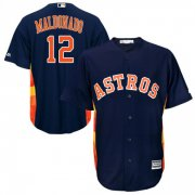 Wholesale Cheap Astros #12 Martin Maldonado Navy Blue New Cool Base Stitched MLB Jersey