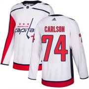 Wholesale Cheap Adidas Capitals #74 John Carlson White Road Authentic Stitched Youth NHL Jersey
