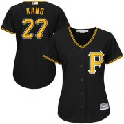 Wholesale Cheap Pirates #27 Jung-ho Kang Black Alternate Women's Stitched MLB Jersey