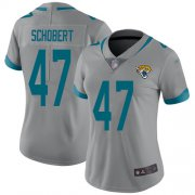 Wholesale Cheap Nike Jaguars #47 Joe Schobert Silver Women's Stitched NFL Limited Inverted Legend Jersey