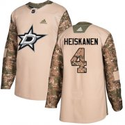 Wholesale Cheap Adidas Stars #4 Miro Heiskanen Camo Authentic 2017 Veterans Day Stitched NHL Jersey