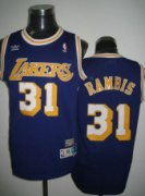Wholesale Cheap Los Angeles Lakers #31 Kurt Rambis Purple Swingman Throwback Jersey
