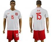 Wholesale Cheap Poland #15 Glik Home Soccer Country Jersey