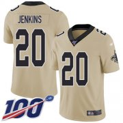 Wholesale Cheap Nike Saints #20 Janoris Jenkins Gold Youth Stitched NFL Limited Inverted Legend 100th Season Jersey