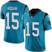 Wholesale Cheap Nike Panthers #15 Chris Hogan Blue Men's Stitched NFL Limited Rush Jersey