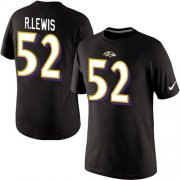 Wholesale Cheap Nike Baltimore Ravens #52 Ray Lewis Pride Name & Number NFL T-Shirt Black
