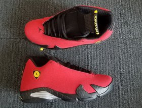 Wholesale Cheap Womens Air Jordan 14 Ferrari Red/Black-Silver