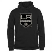 Wholesale Cheap Men's Los Angeles Kings Black Rink Warrior Pullover Hoodie