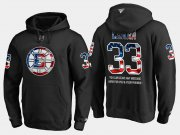 Wholesale Cheap Bruins #33 Zdeno Chara NHL Banner Wave Usa Flag Black Hoodie