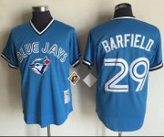 Wholesale Cheap Mitchell And Ness Blue Jays #29 Jesse Barfield Blue Throwback Stitched MLB Jersey