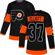 Wholesale Cheap Adidas Flyers #37 Brian Elliott Black Alternate Authentic Stitched Youth NHL Jersey