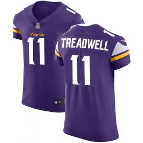 Wholesale Cheap Nike Vikings #11 Laquon Treadwell Purple Team Color Men\'s Stitched NFL Vapor Untouchable Elite Jersey