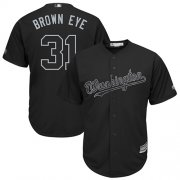 "Wholesale Cheap Nationals #31 Max Scherzer Black ""Brown Eye"" Players Weekend Cool Base Stitched MLB Jersey"