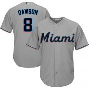 Wholesale Cheap Marlins #8 Andre Dawson Grey Cool Base Stitched Youth MLB Jersey