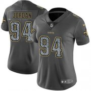 Wholesale Cheap Nike Saints #94 Cameron Jordan Gray Static Women's Stitched NFL Vapor Untouchable Limited Jersey