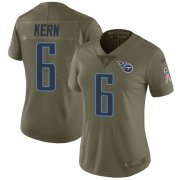 Wholesale Cheap Nike Titans #6 Brett Kern Olive Women's Stitched NFL Limited 2017 Salute to Service Jersey