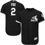 Wholesale Cheap White Sox #2 Nellie Fox Black Flexbase Authentic Collection Stitched MLB Jersey