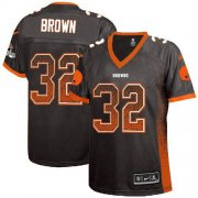 Wholesale Cheap Nike Browns #32 Jim Brown Brown Team Color Women's Stitched NFL Elite Drift Fashion Jersey