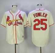 Wholesale Cheap Cardinals #25 Dexter Fowler Cream New Cool Base Stitched MLB Jersey