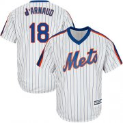 Wholesale Cheap Mets #18 Travis d'Arnaud White(Blue Strip) Alternate Cool Base Stitched Youth MLB Jersey