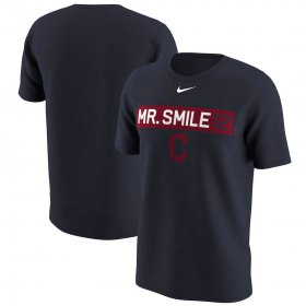 Wholesale Cheap Cleveland Indians #12 Francisco Lindor Nike Legend Player Nickname Name & Number T-Shirt Navy