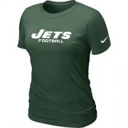 Wholesale Cheap Women's Nike New York Jets Sideline Legend Authentic Font T-Shirt Green