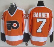 Wholesale Cheap Flyers #7 Bill Barber Orange CCM Throwback Stitched NHL Jersey