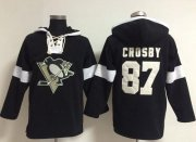 Wholesale Cheap Penguins #87 Sidney Crosby Black NHL Pullover Hoodie