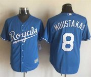 Wholesale Cheap Royals #8 Mike Moustakas Light Blue Alternate 1 New Cool Base Stitched MLB Jersey