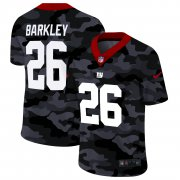 Cheap New York Giants #26 Saquon Barkley Men's Nike 2020 Black CAMO Vapor Untouchable Limited Stitched NFL Jersey