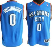 Wholesale Cheap Oklahoma City Thunder #0 Russell Westbrook Revolution 30 Swingman Blue Jersey