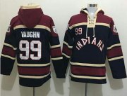 Wholesale Cheap Indians #99 Ricky Vaughn Black Sawyer Hooded Sweatshirt MLB Hoodie