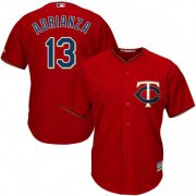 Wholesale Cheap Twins #13 Ehire Adrianza Red Cool Base Stitched Youth MLB Jersey