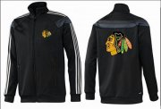 Wholesale NHL Chicago Blackhawks Zip Jackets Black-2