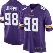 Wholesale Cheap Nike Vikings #98 Linval Joseph Purple Team Color Youth Stitched NFL Elite Jersey