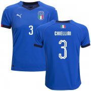 Wholesale Cheap Italy #3 Chiellini Home Kid Soccer Country Jersey