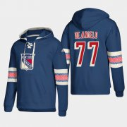 Wholesale Cheap New York Rangers #77 Anthony Deangelo Blue adidas Lace-Up Pullover Hoodie