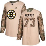Wholesale Cheap Adidas Bruins #73 Charlie McAvoy Camo Authentic 2017 Veterans Day Stitched NHL Jersey