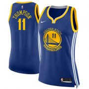 Wholesale Cheap Nike Golden State Warriors #11 Klay Thompson Blue Women's NBA Swingman Icon Edition Jersey