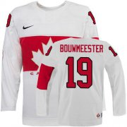 Wholesale Cheap Olympic 2014 CA. #19 Jay Bouwmeester White Stitched NHL Jersey